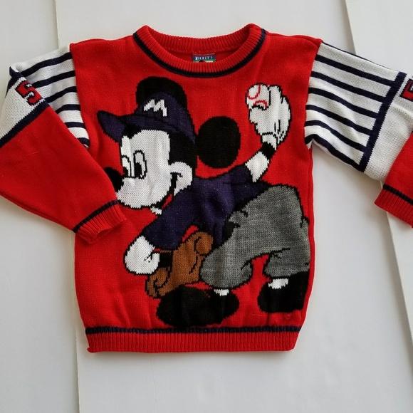 Disney Shirts Tops Mickey Mouse Baseball Toddler Varsity Sweater